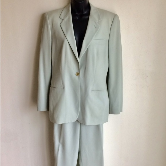 Giorgio Armani Jackets & Blazers - Armani Woman's Suit Size EUC 44 Light Blue US 8